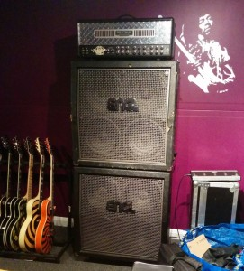 ENGL Stack with Mesa Boogie head and Epiphone Les Paul rack